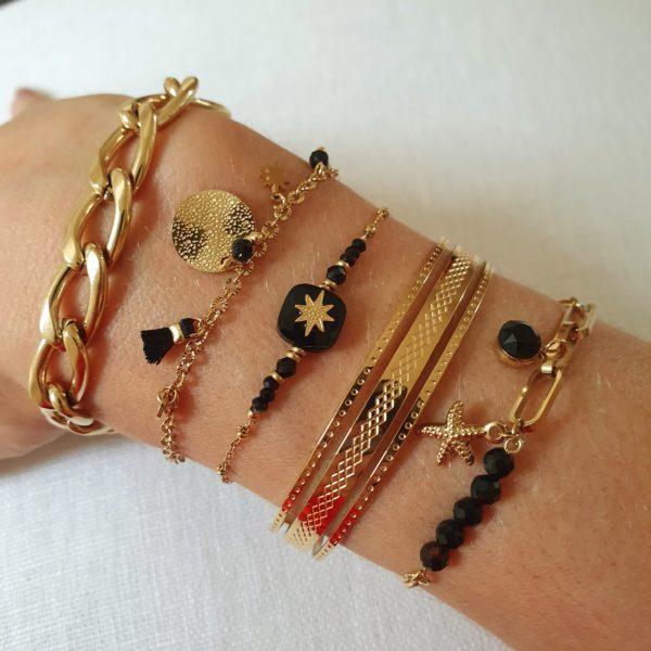 Bracelet Chaîne Maille Dorée   IKITA