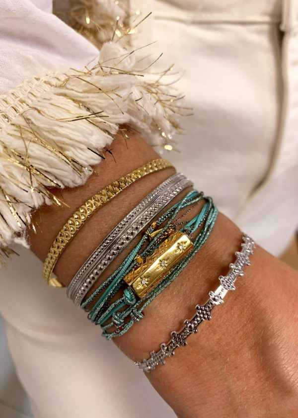 Bracelet fantaisie Pierres Fines Multi Cordon Turquoise | MYA-BAY