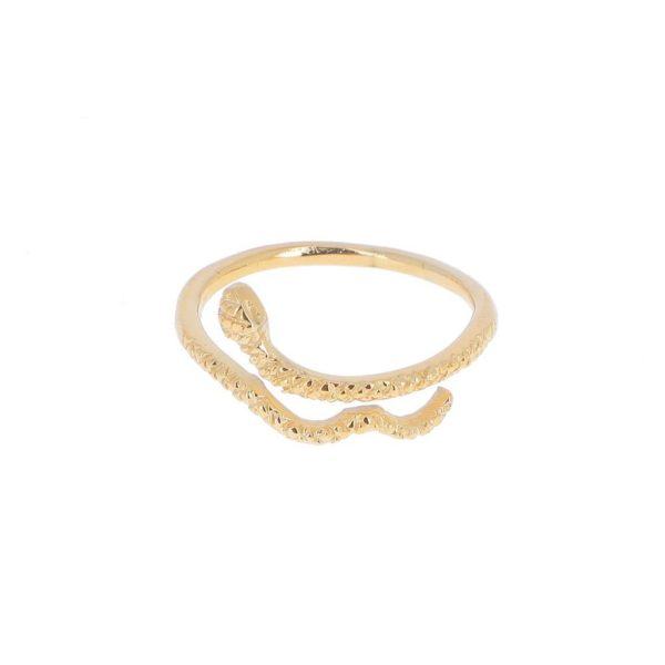 Bague Dorée Serpent | IKITA