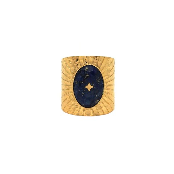 Bague Etoile Pierre Lapis Lazuli | IKITA