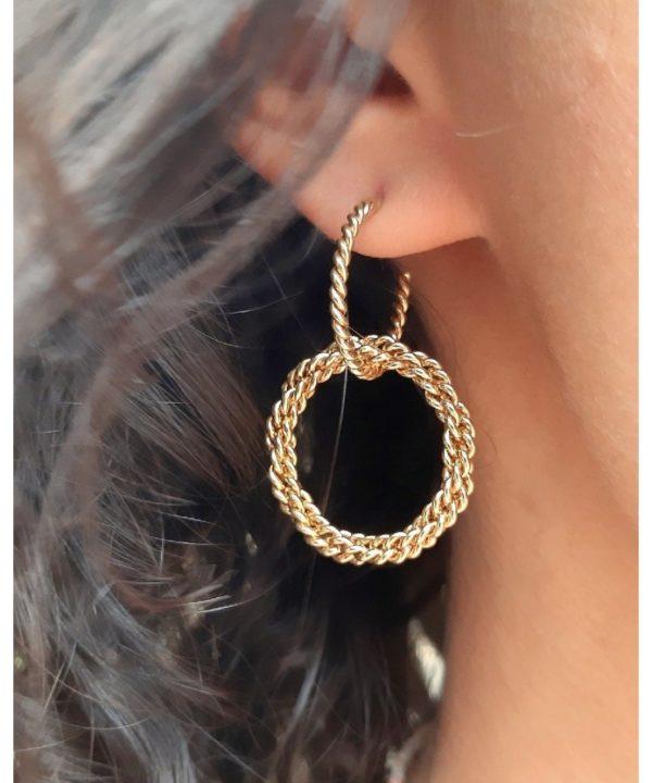 boucles d oreilles double diana