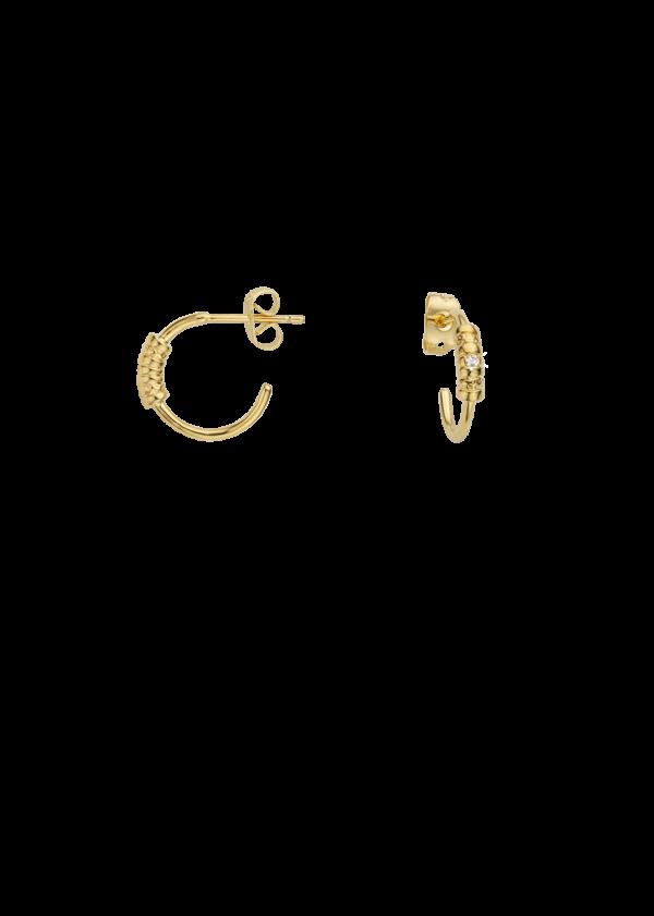 Boucles d'oreilles fantaisie Créoles Anneaux Soudés | MYA-BAY