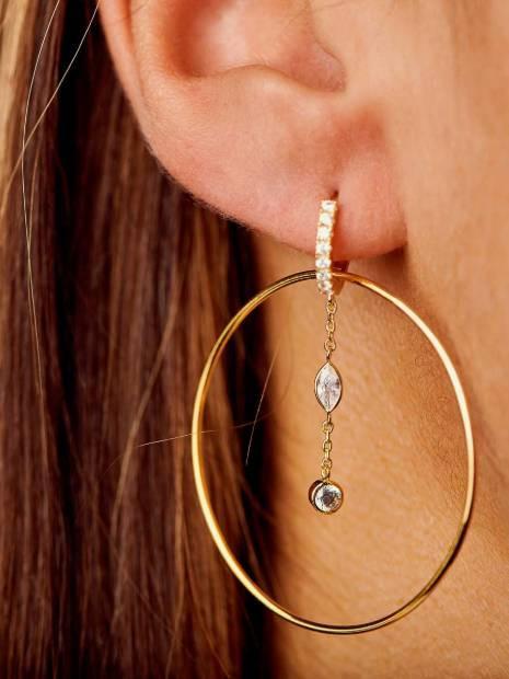 Boucles D'oreilles fantaisie Créoles | MYA-BAY