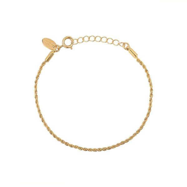 Bracelet Doré Maille Corde | CAROLINE NAJMAN