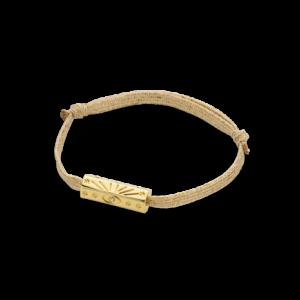 Bracelet fantaisie Cordon Irisé Ornement Doré | MYA-BAY