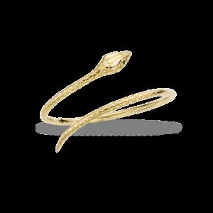 Bracelet fantaisie Doré Serpent Pierres Fines Noires | MYA BAY