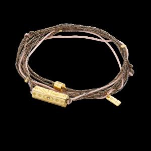 Bracelet fantaisie Multi Cordons Rose | MYA-BAY