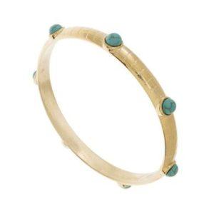 Bracelet Jonc Pierres Turquoise | SHABADA