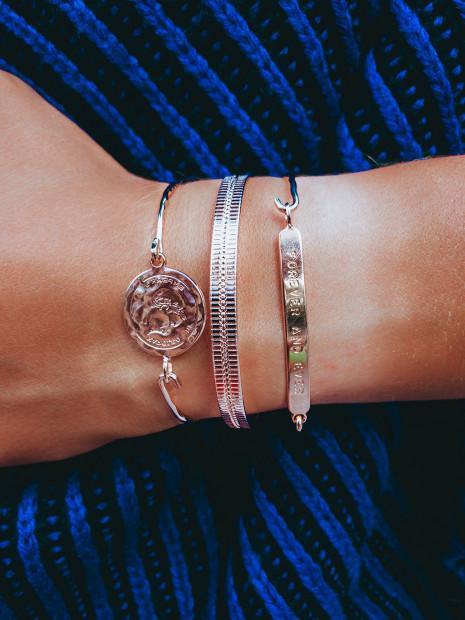 Bracelet Fantaisie Doré  Jonc Pièce Dorée | MYA-BAY