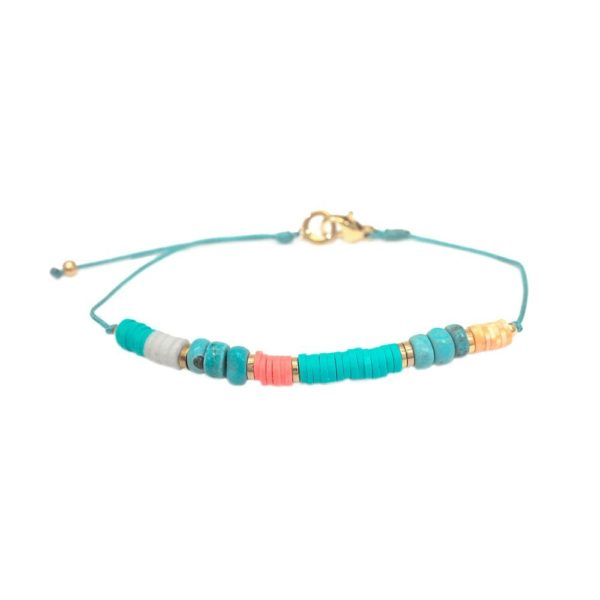 Bracelets Perles Rondelles Colorées | IKITA