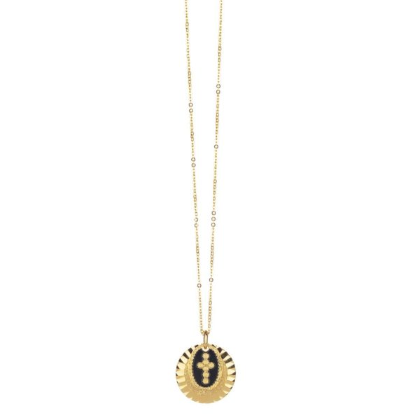 Collier Double Médaille Croix   LOVELY DAY