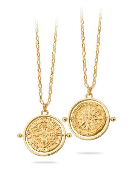 Collier Médaille Deux Faces   MYA-BAY