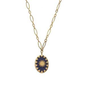 Collier Pierre Naturelle Lapis Lazuli Et Etoile | IKITA