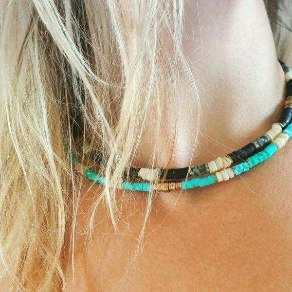 Collier Surfeur Turquoise | IKITA