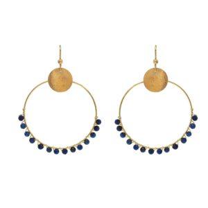 Créoles Perlées Lapis Lazuli | IKITA