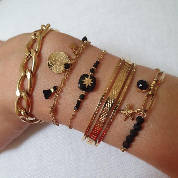 Bracelet Doré Avec Pampilles | IKITA