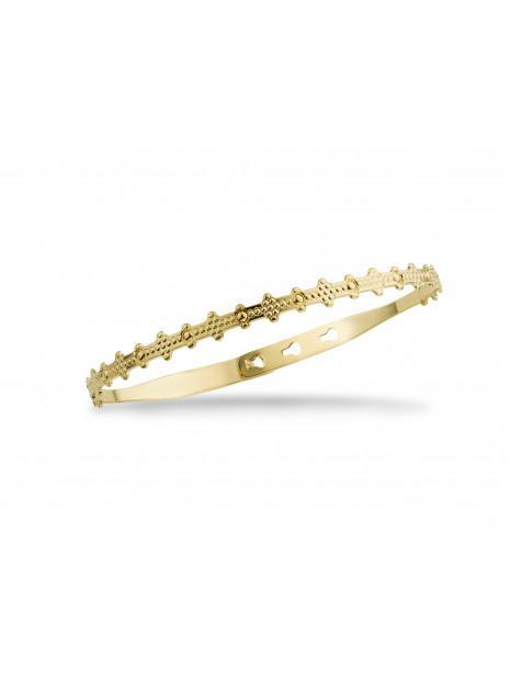 Bracelet Fantaisie Doré  Jonc Indien Texturé | MYA-BAY
