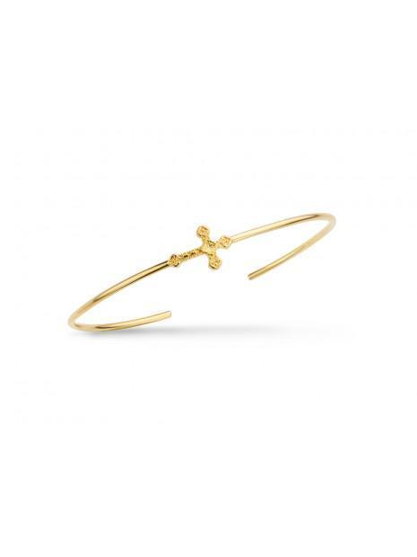 Bracelet Fantaisie Doré  Jonc Ouvert Petite Croix | MYA-BAY