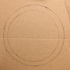 collerette en carton pour cadre à punch needle