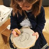 enfant fille 5 ans punch needle loisir créatif motricité fine cadeau écolo montessori