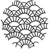 Punch needle Motif géométrique