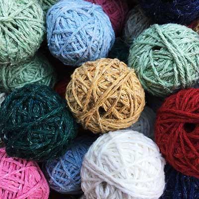 cones laine recyclée pour loisir créatif écologique et durable