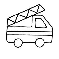 Motif camion pompiers rouge punch needle cadeau enfant déco chambre loisir créatif activité manuelle