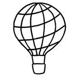 kit punch needle montgolfière c'reparti