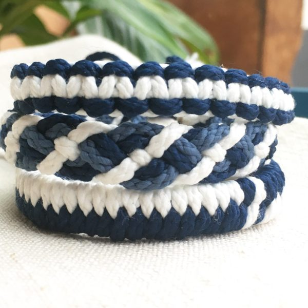 3 tissages differents bracelets macrame CReparti