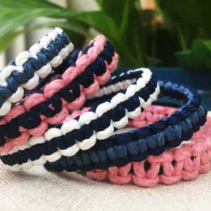 Collection kits bracelets macrame loisir creatif c reparti circulaire solidaire plastique recycle fabrication francaise achat responsable