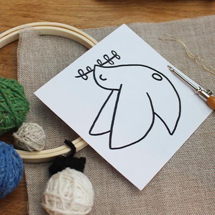 colombe contenu kit punch needle loisir creatif enfant adulte fabrique en france circulaire et solidaire achat cadeau communion responsable