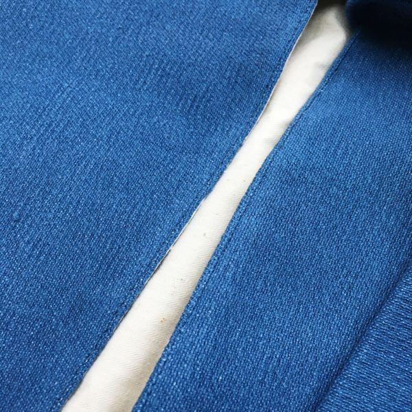 detail sac a tarte bleu