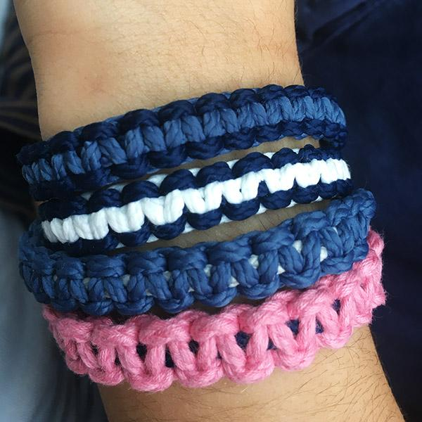hortensia kit bracelets macrame C Reparti bouteilles plastiques recyclees loisir creatif