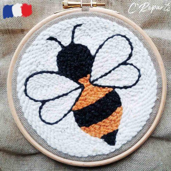 kit punch needle abeille