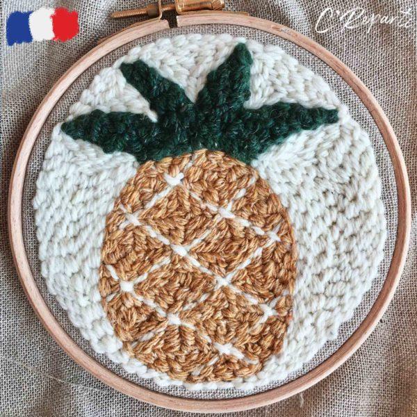 kit punch needle ananas