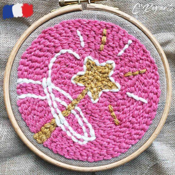 kit punch needle baguette magique fee