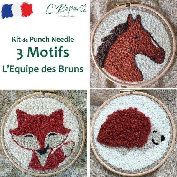 kit punch needle cheval renard herisson