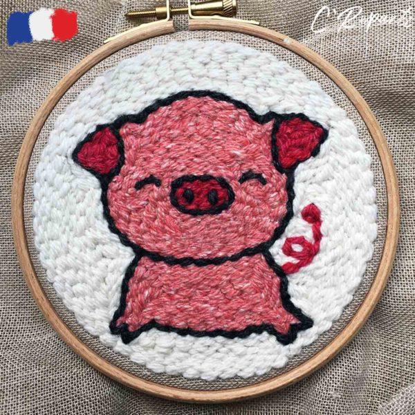 kit punch needle cochon