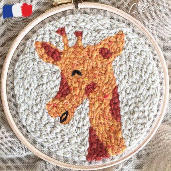 kit punch needle girafe