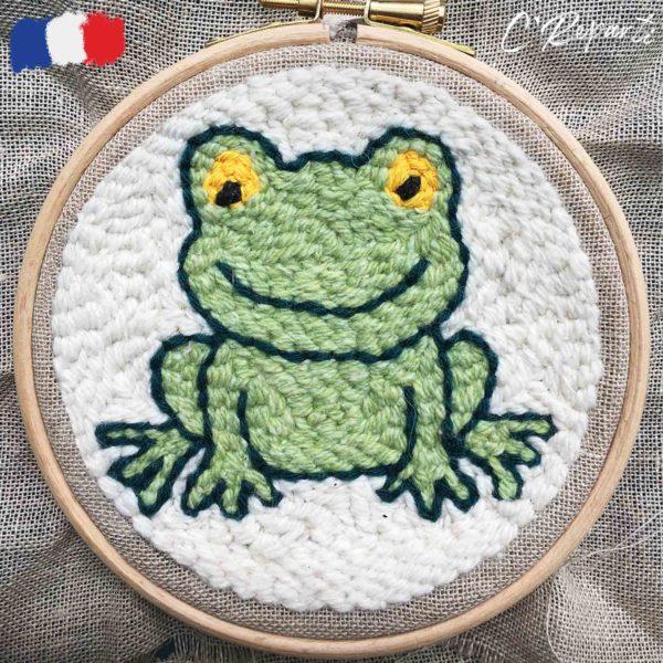 kit punch needle grenouille 1