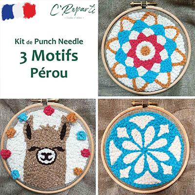kit punch needle lama mandala