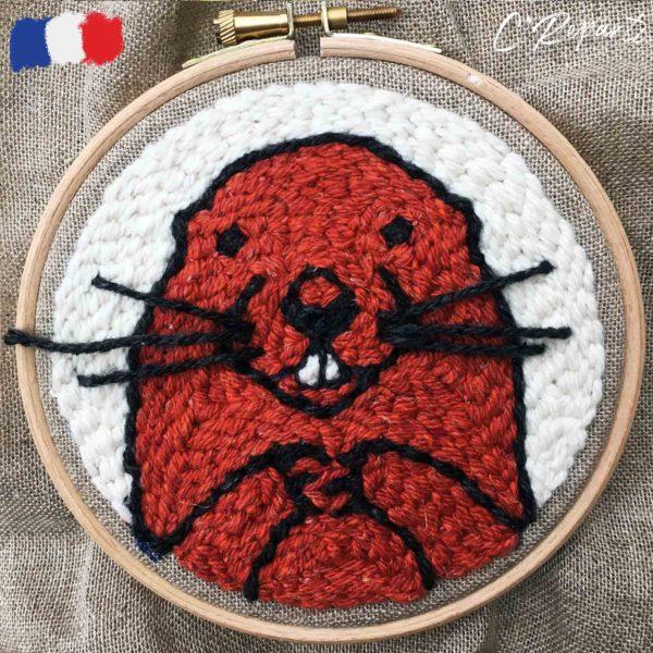 kit punch needle marmotte