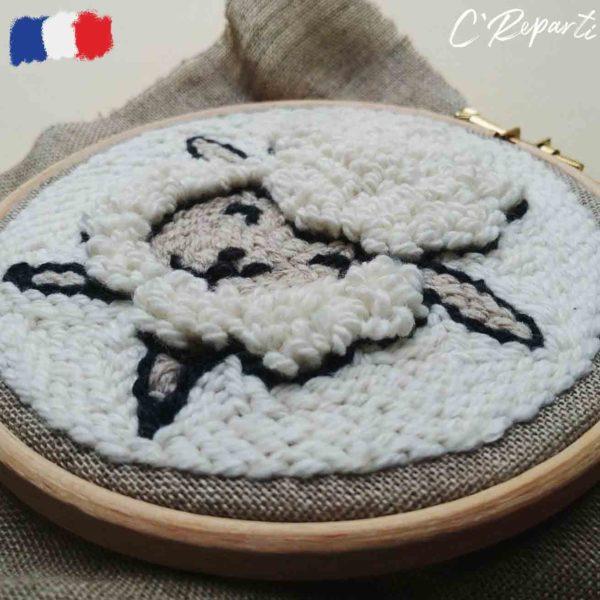 kit punch needle mouton c09a9e19 1d42 4454 8f57 6764fa8dc591