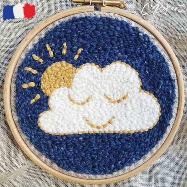 kit punch needle nuage