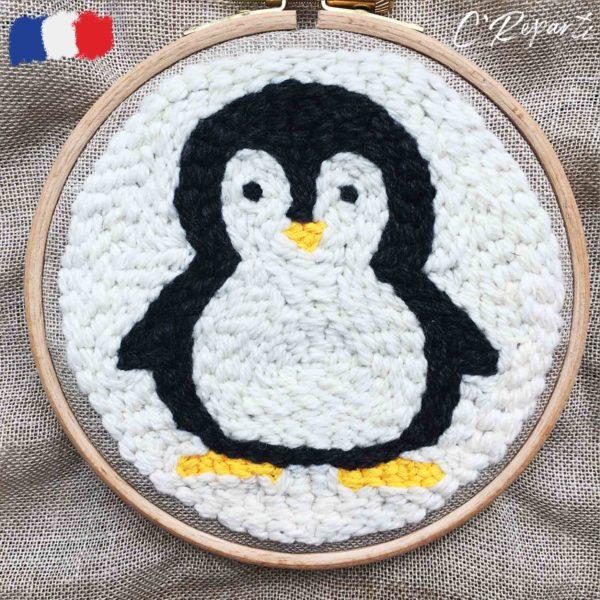 kit punch needle pingoin noir