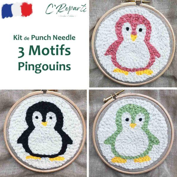 kit punch needle pingouins2