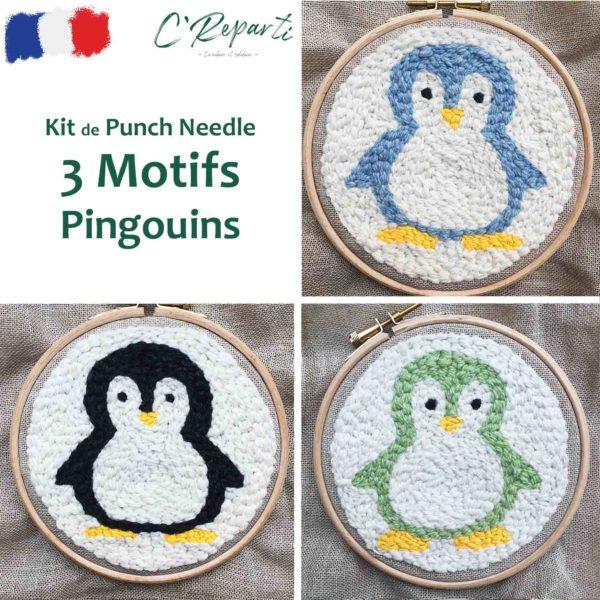 kit punch needle pingouins3