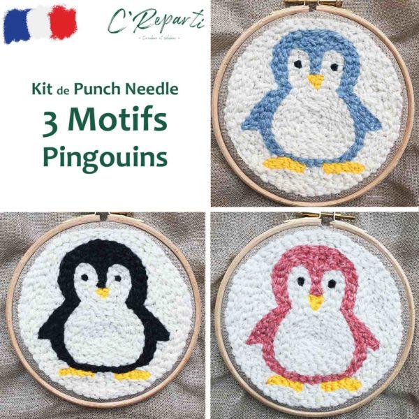 kit punch needle pingouins4