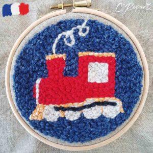 motif punch needle locomotive