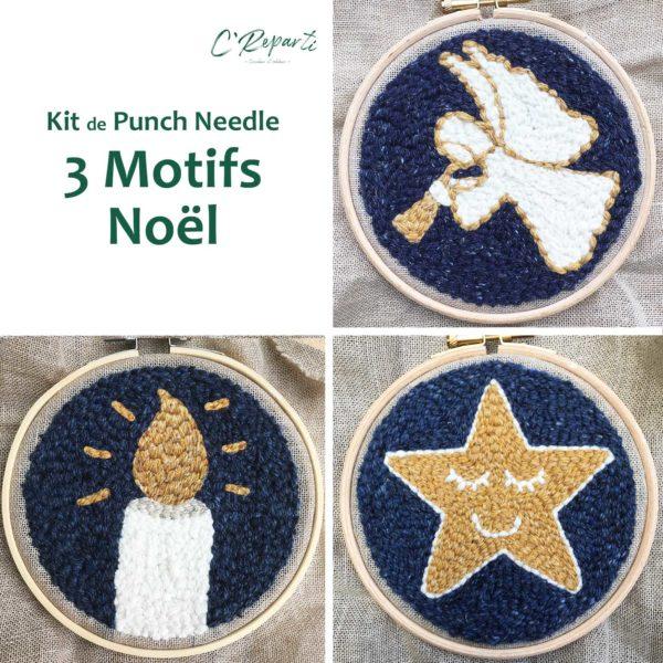 kit3motifsnoeletoilebougieange